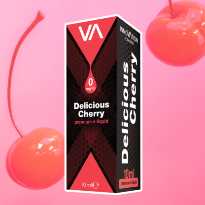 INNOVATION Delicious Cherry vape juice has a refreshing, aromatic cherry flavour and sweet aftertaste.