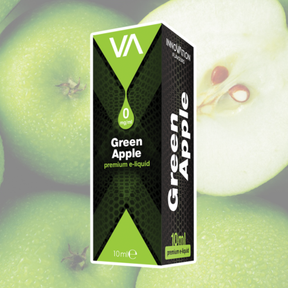 INNOVATION Green Apple E-juice has a green apple taste, juicy and sweet, mild and rich aftertaste.