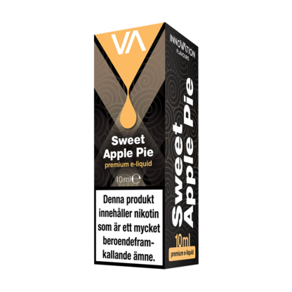 INNOVATION Sweet Apple Pie E-juice has a pleasant apple pie taste with mild hint of cinnamon, cream and caramel. Sweet baked pastry aftertaste.